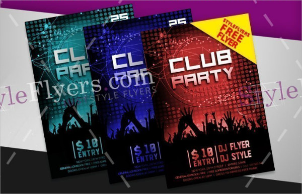 Free PSD Club Party Flyer Template