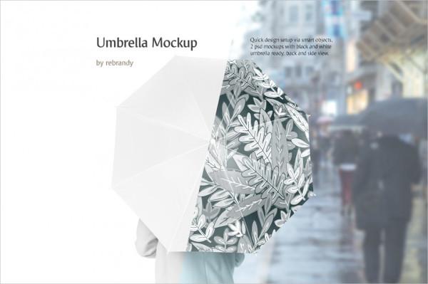 Fully Editable Umbrella Mockup Design
