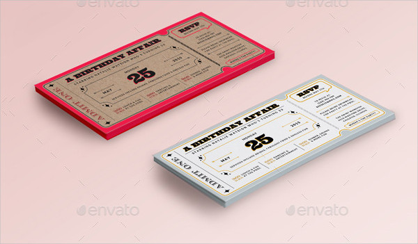 Funny BirthdayTicket Invitations Set