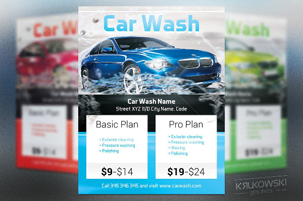 Car Cleaning Garage Flyer Template