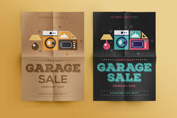 Perfect Garage Sale Advertising Flyer Template