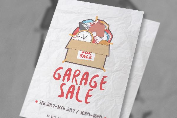 Yard Sale Printable Flyer Template