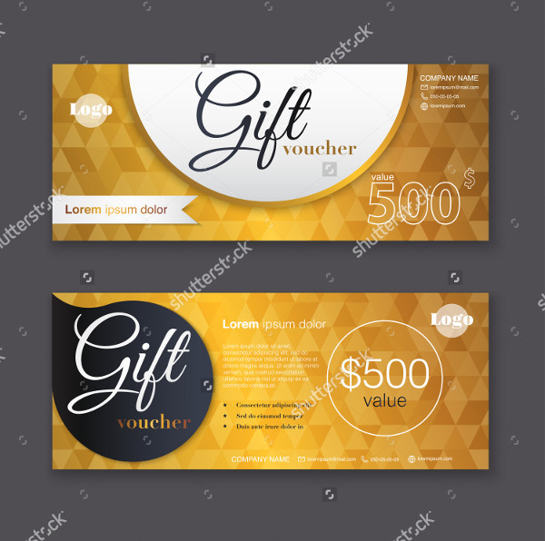 Gold Pattern Gift Voucher