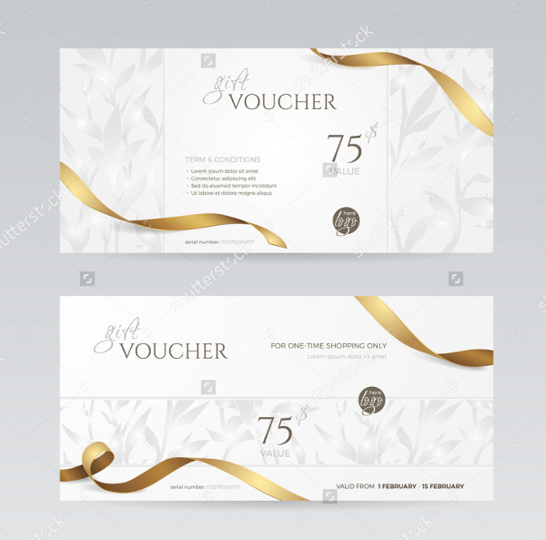 Set of Beauty Gift Voucher Templates
