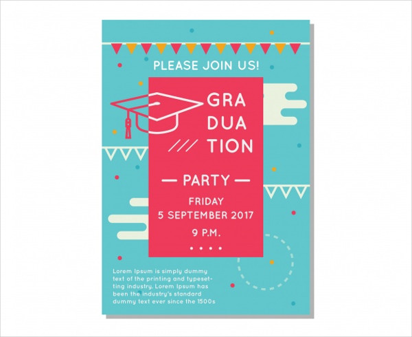 Free Vector Graduation Club Party Flyer In Flat Design