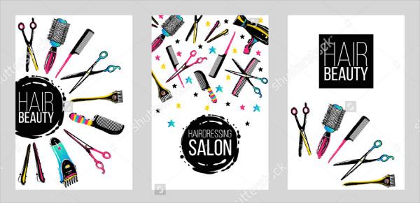 Haircut & Beauty Salons Flyer Template