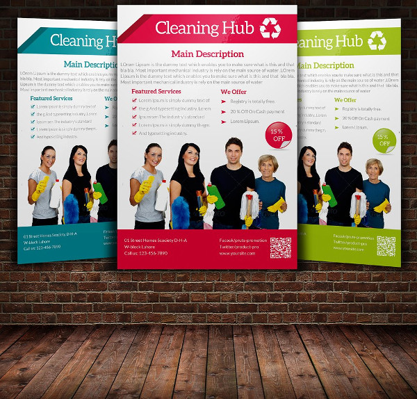 Home Cleaning Services Flyer Design
