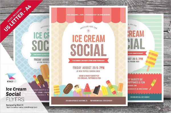 Ice Cream Social Fundraiser Flyer