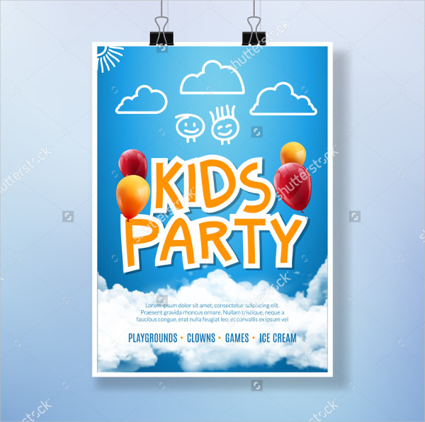 Kids Party Event Flyers