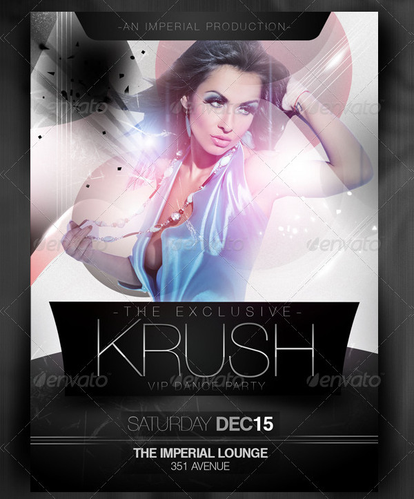 Crush Dance Party Flyer Design