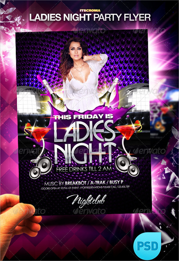 Ladies Night Event Party Flyer Template