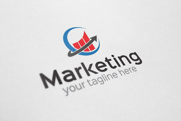 Fully Editable Marketing Company Logo
