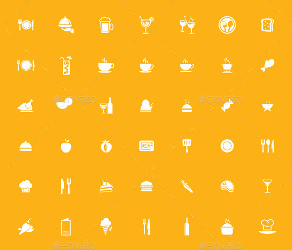 250 Mixed Icon Set of Food