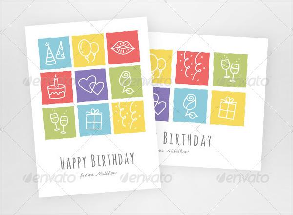Modern Birthday Greeting Cards