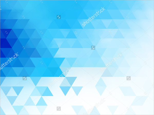 Mosaic Background Blue Triangles