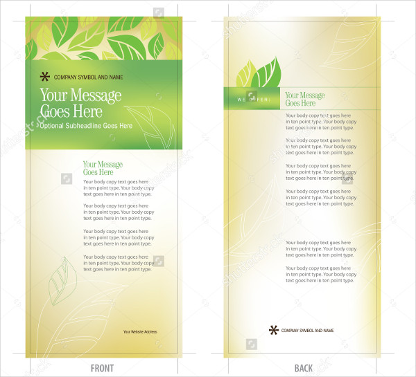 Organic Rack Card Brochure Template