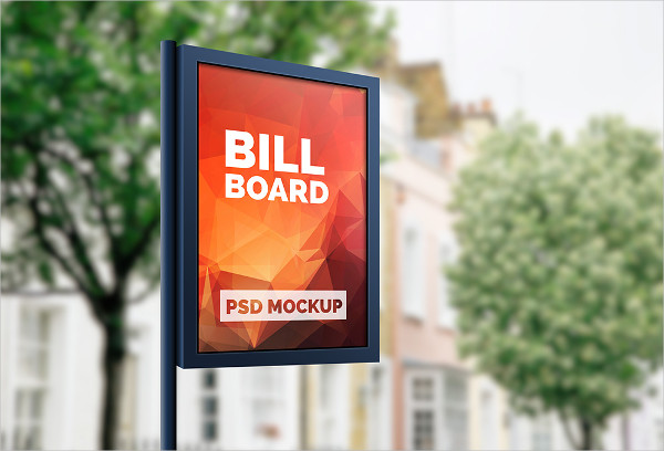 Outdoor Advertising Billboard Mockup PSD Free Download