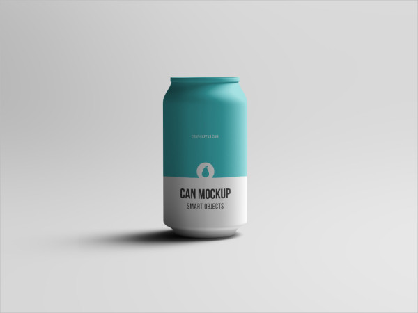 PSD Mockup of Can Free Download