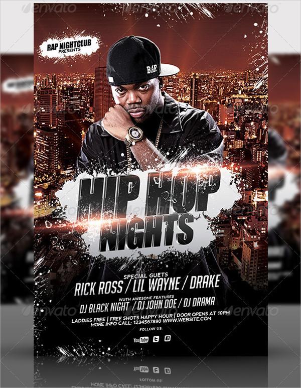 Popular Hip Hop Flyer Template