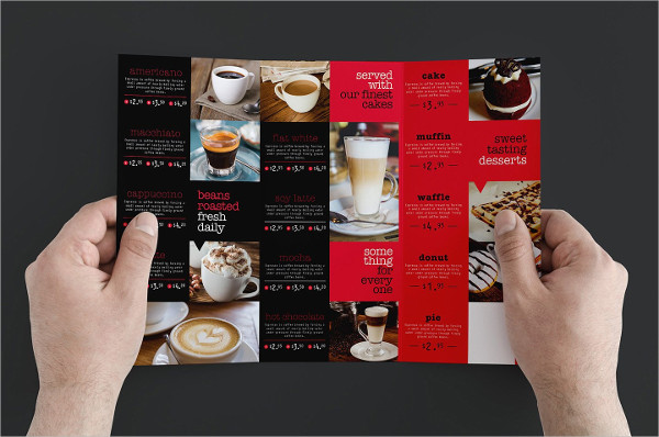 Trifold Coffee Cafe Brochure Template
