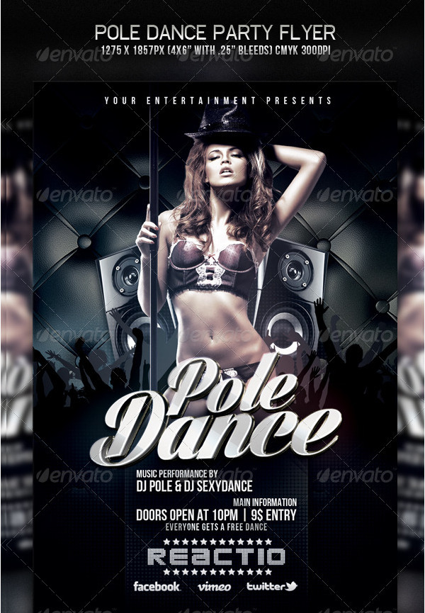 Pole Dance Party Flyer