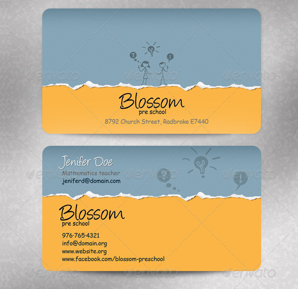 Pre-School Business Cards