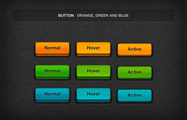 Professional 3D Colorful Buttons