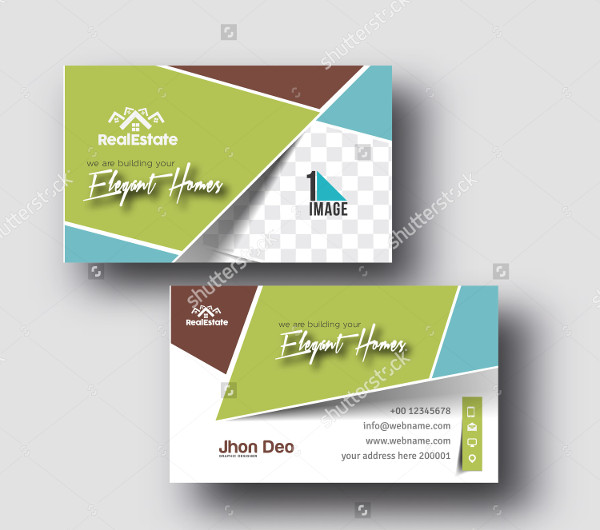 Elegant Homes Business Card Template