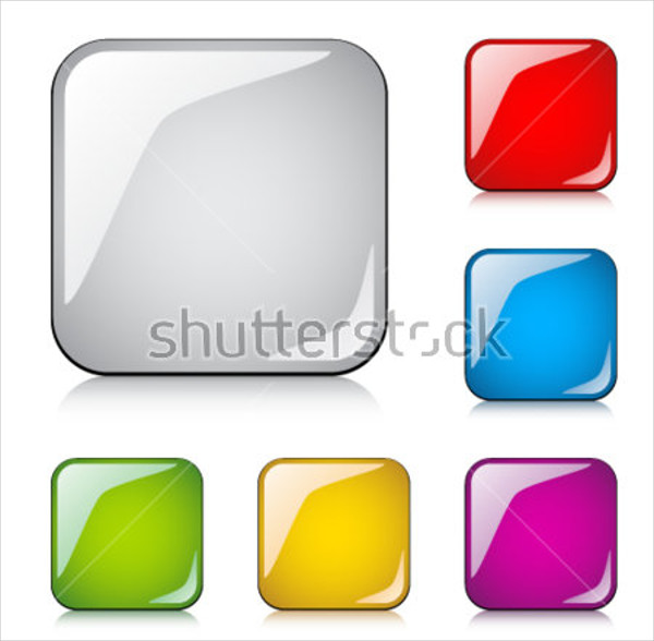 Glossy Vector Buttons Set