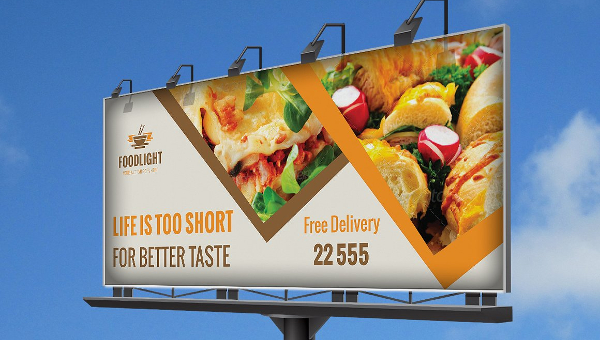 Restaurant Billboard Template