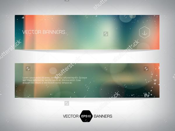 Retro Blurry Soft Photographic Banner