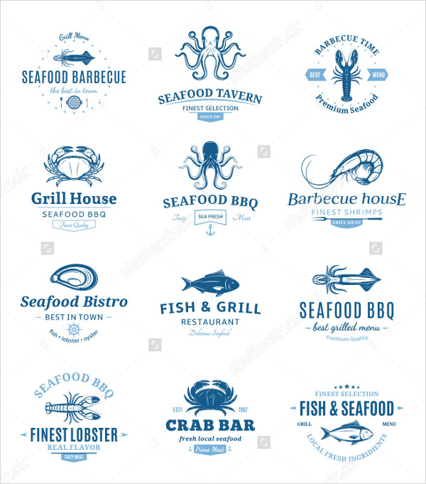 Seafood Barbecue Design Elements