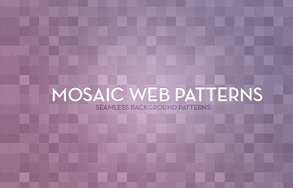 Seamless Mosaic Background Patterns