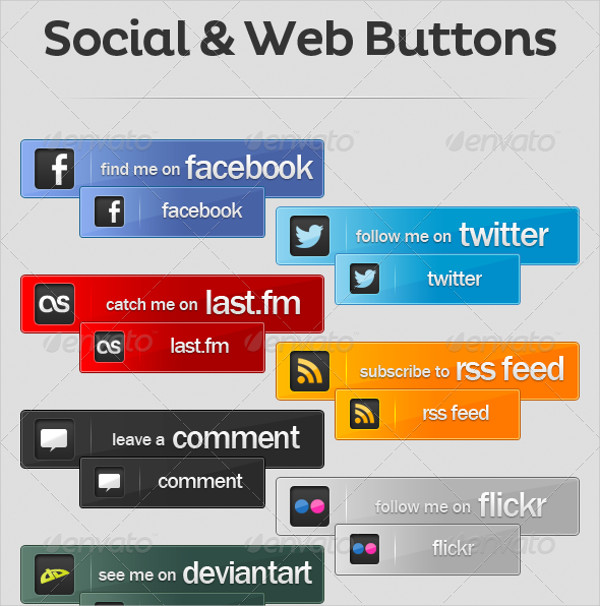 Social & Web Buttons Pack