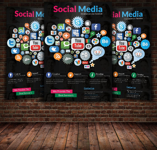 Social Media Marketing Services PSD Flyer