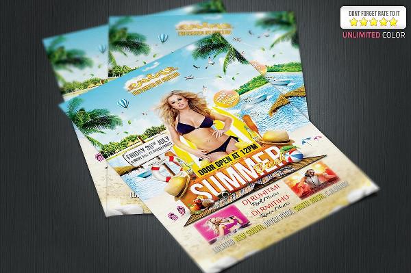 Unique Summer Break Flyer Design