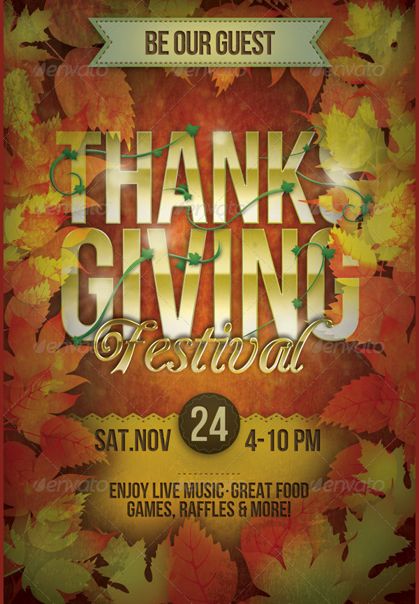 Thanksgiving Festival Flyer Photoshop
