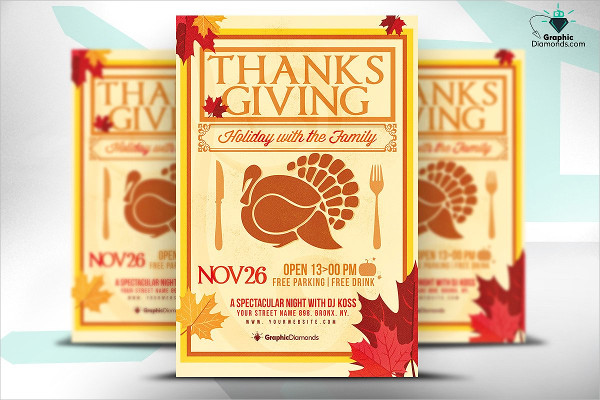 Thanksgiving Holiday PSD Flyer Templates