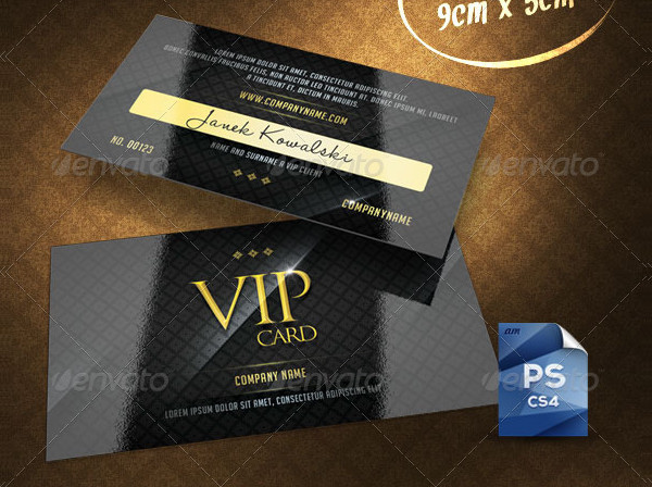 VIP Membership PSD Card Template