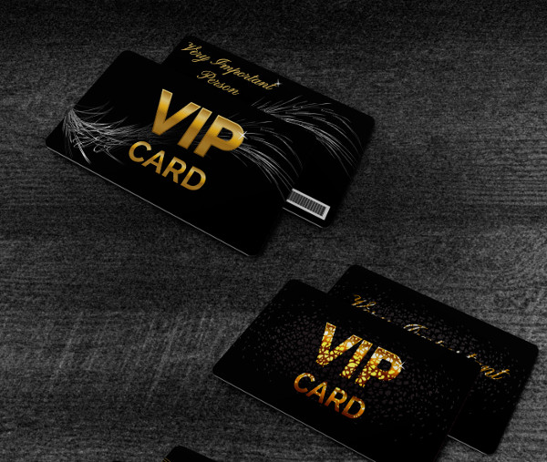 Set of Black VIP Cards Vector Illustration