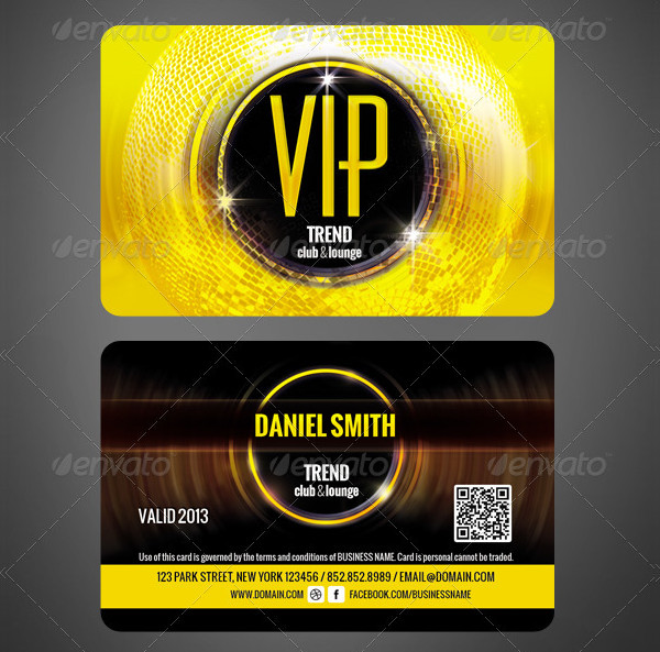 Club VIP Membership Card Template