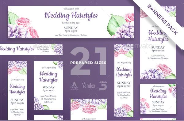 Wedding Hairstyles Banner Pack