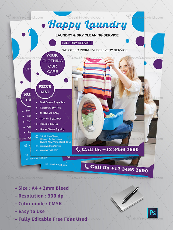 New Dry Cleaning Flyer Design