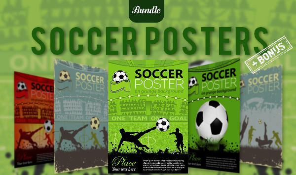 5 Soccer Player Posters