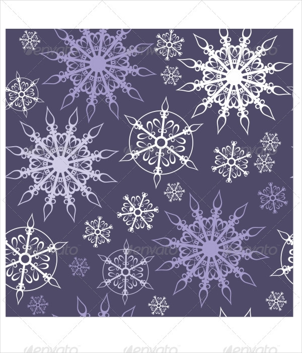 Abstract Snowflake Texture