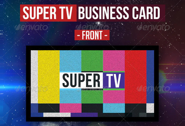 Attractive Business Card with Theme TV
