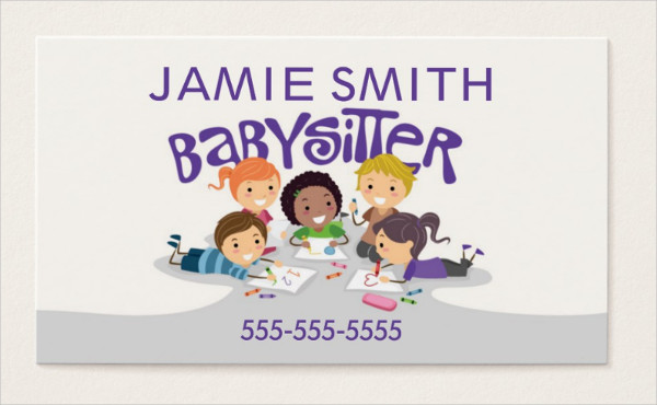 Professional Babysitter Business Card