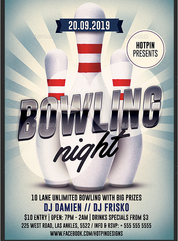 Bowling Alley Event Flyer