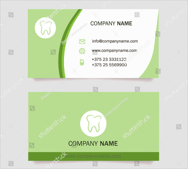 Dentist Visiting Card Template