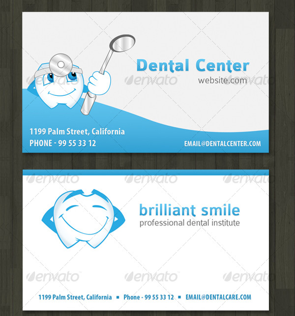 Business card for Dentist or Dental Institute